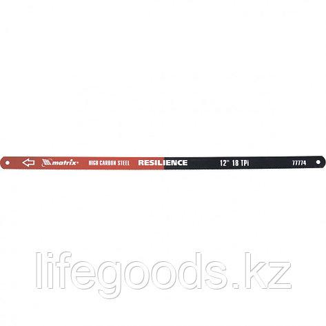 Полотна для ножовки по металлу, 300 мм, 18 TPI, упругое, 2 шт Matrix 77774, фото 2