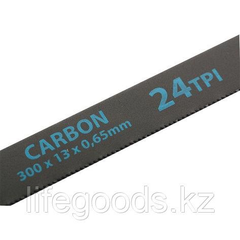 Полотна для ножовки по металлу, 300 мм, 24 TPI, Carbon, 2 шт Gross, фото 2