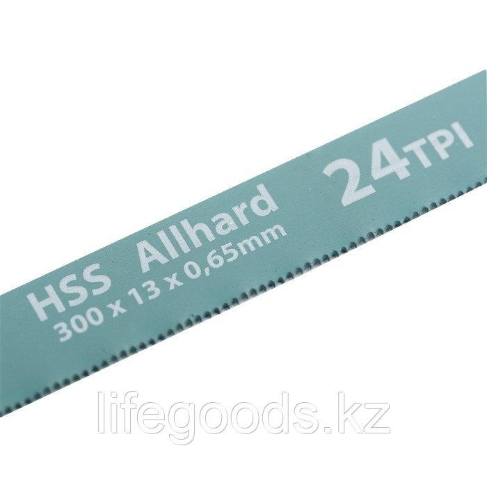 Полотна для ножовки по металлу, 300 мм, 24 TPI, HSS, 2 шт Gross 77724
