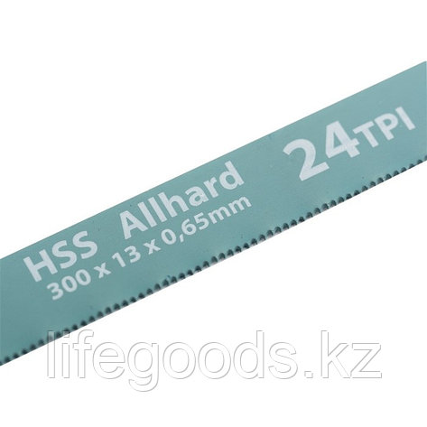 Полотна для ножовки по металлу, 300 мм, 24 TPI, HSS, 2 шт Gross 77724, фото 2