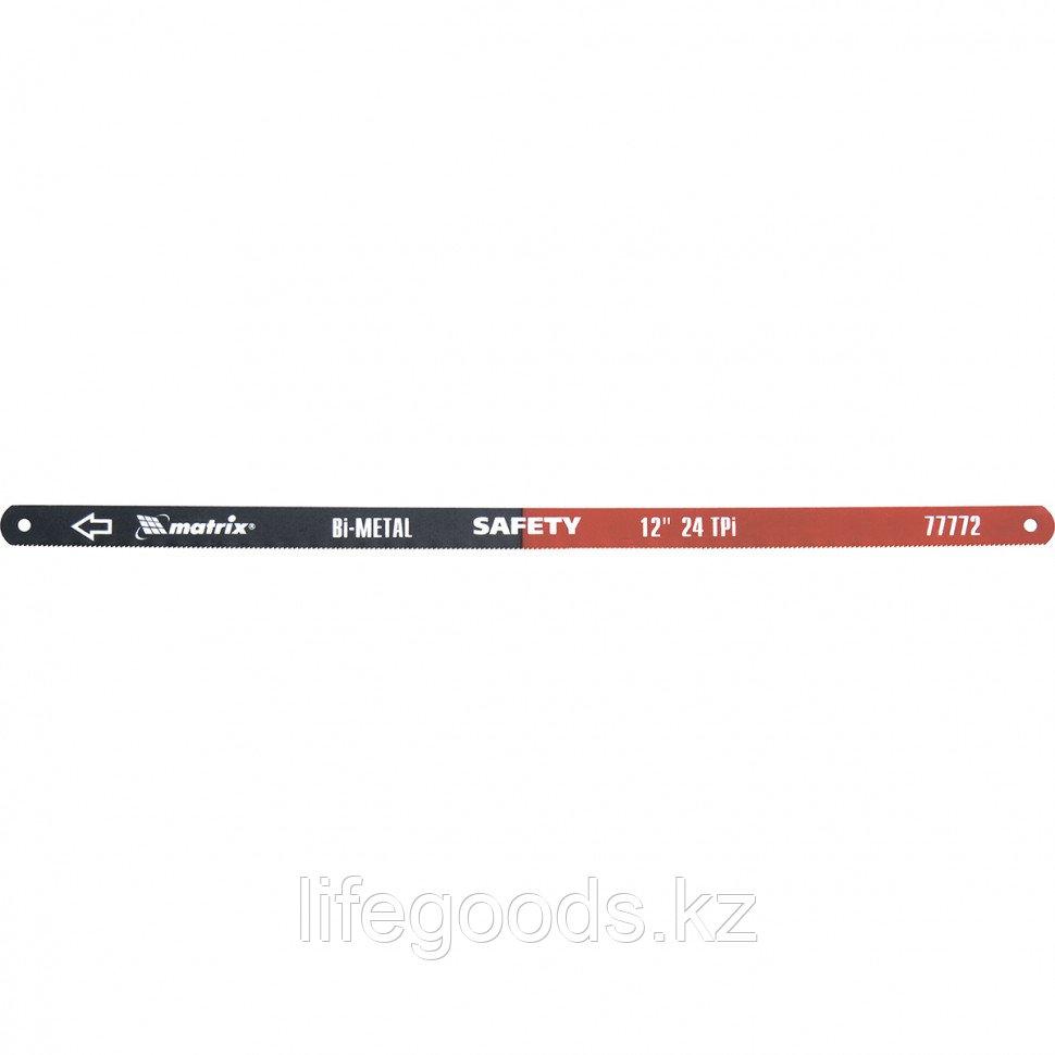 Полотна для ножовки по металлу, 300 мм, 24 TPI, биметаллическое, 2 шт Matrix 77772