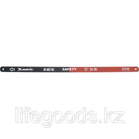 Полотна для ножовки по металлу, 300 мм, 24 TPI, биметаллическое, 2 шт Matrix 77772, фото 2