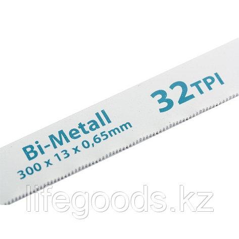 Полотна для ножовки по металлу, 300 мм, 32 TPI, BiM, 2 шт Gross 77728, фото 2