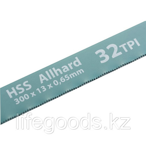 Полотна для ножовки по металлу, 300 мм, 32 TPI, HSS, 2 шт Gross 77723, фото 2