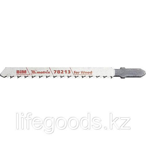 Полотна для электролобзика по дереву, 3 шт, T101BRF, 75 x 2,5 мм, обратный зуб, Bim Matrix Professional 78213, фото 2