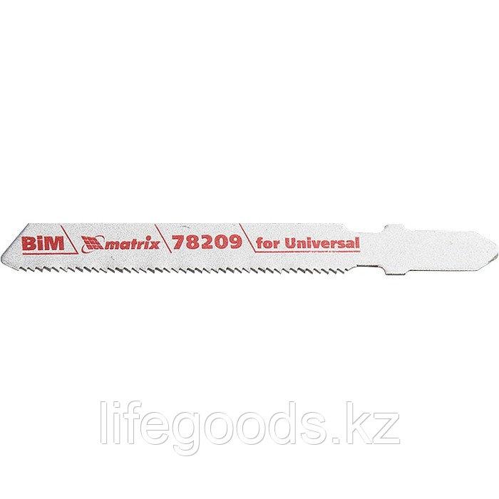 Полотна для электролобзика по металлу, 3 шт, T118AF, 55 х 1,2 мм, Bimetal Matrix Professional 78209