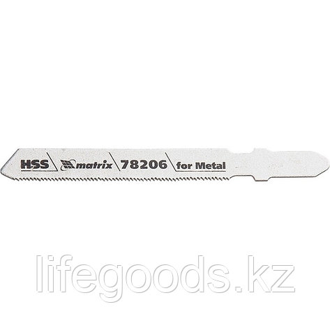 Полотна для электролобзика по металлу, 3 шт, T118G, 50 х 0,8 мм, HSS Matrix Professional 78206, фото 2