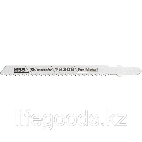 Полотна для электролобзика по металлу, 3 шт, T127D, 75 х 3 мм, HSS Matrix Professional 78208, фото 2