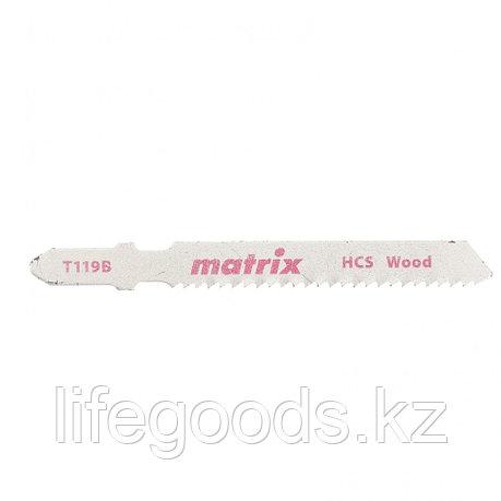 Полотна для электролобзика  по дереву, 3 шт,T119B, 50 x 2 мм, HCS Matrix 78228, фото 2