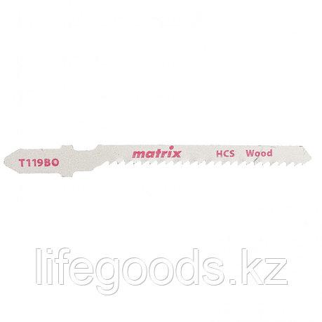 Полотна для электролобзика  по дереву, 3 шт,T119BO, 50 x 2 мм, HCS, фигур. рез Matrix, фото 2