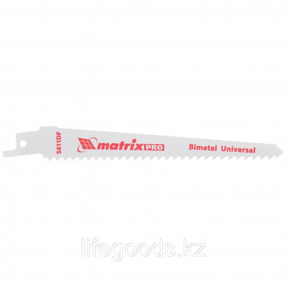 Полотна универсальные для сабельной пилы S611DF 125/4,3 мм, Bimetal, 2 шт, Pro Matrix 782004