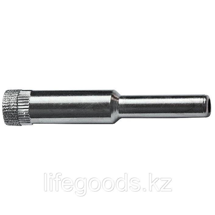 Сверло алмазное по керамической плитке и стеклу, 6 мм, цилиндрический хвостовик Sparta 728065