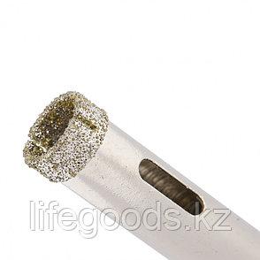 Сверло алмазное по керамограниту, 12 х 67 мм, трехгранный хвостовик, 2 шт Matrix 726123, фото 2