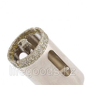 Сверло алмазное по керамограниту, 25 х 67 мм, трехгранный хвостовик Matrix 726253, фото 2