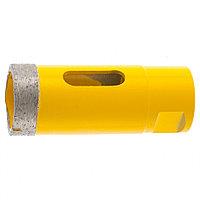Сверло алмазное по керамограниту, 30 мм, мокрая резка, М14 Denzel 72683