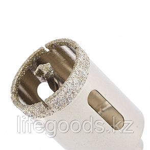 Сверло алмазное по керамограниту, 30 х 67 мм, трехгранный хвостовик Matrix 726303, фото 2