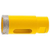 Сверло алмазное по керамограниту, 32 мм, мокрая резка, М14 Denzel 72684
