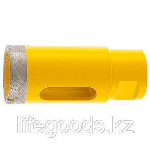 Сверло алмазное по керамограниту, 32 мм, мокрая резка, М14 Denzel 72684, фото 2