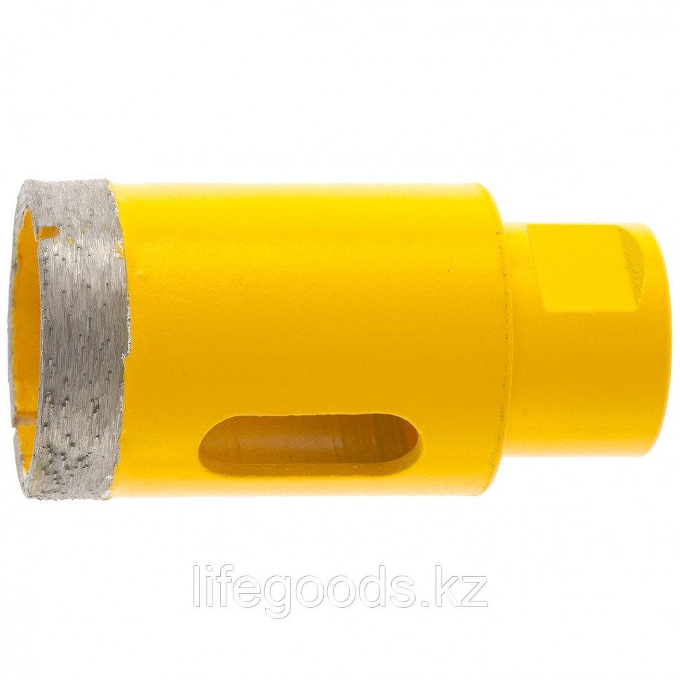 Сверло алмазное по керамограниту, 38 мм, мокрая резка, М14 Denzel 72686