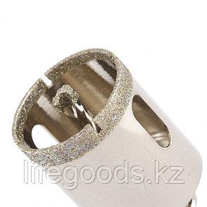 Сверло алмазное по керамограниту, 38 х 67 мм, трехгранный хвостовик Matrix 726383, фото 2