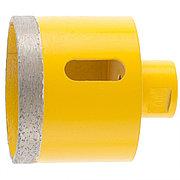 Сверло алмазное по керамограниту, 68 мм, мокрая резка, М14 Denzel 72693
