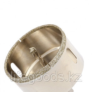 Сверло алмазное по керамограниту, 70 х 67 мм, трехгранный хвостовик Matrix 726703, фото 2