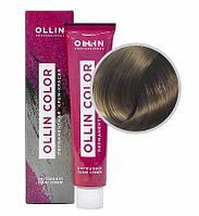 Перманентная крем краска для волос, 7,1 русый пепельный,60 мл, Ollin Color