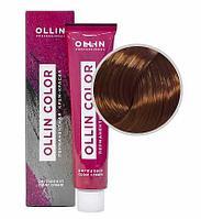 Перманентная крем краска для волос, 7,4 русый медный,60 мл, Ollin Color
