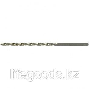 Сверло по металлу, 3,5 х 110 мм, полированное, удл, HSS, 10 шт, цилиндрический хвостовик Matrix, фото 2
