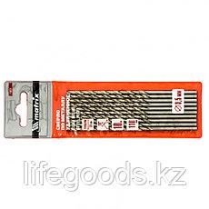 Сверло по металлу, 3,5 х 110 мм, полированное, удл, HSS, 10 шт, цилиндрический хвостовик Matrix, фото 3
