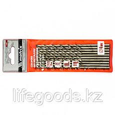 Сверло по металлу, 4 х 119 мм, полированное, удл, HSS, 10 шт, цилиндрический хвостовик Matrix, фото 3