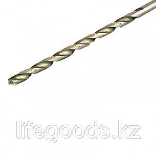Сверло по металлу, 4,2 х 119 мм, полированное, удл, HSS, 10 шт, цилиндрический хвостовик Matrix, фото 2