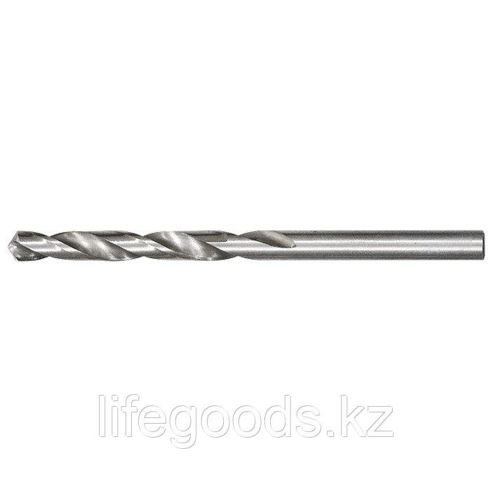 Сверло по металлу, 4,9 мм, полированное, HSS, 10 шт, цилиндрический хвостовик Matrix