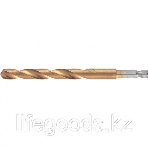 Сверло по металлу, 5 мм, HSS, нитридтитановое покрытие, шестигранный хвостовик Matrix, фото 2