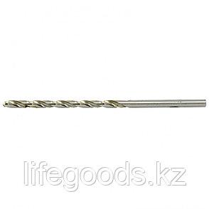 Сверло по металлу, 5,2 х 132 мм, полированное, удл, HSS, 10 шт, цилиндрический хвостовик Matrix, фото 2