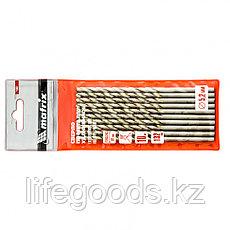 Сверло по металлу, 5,2 х 132 мм, полированное, удл, HSS, 10 шт, цилиндрический хвостовик Matrix, фото 3