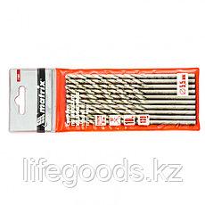 Сверло по металлу, 5,5 х 139 мм, полированное, удл, HSS, 10 шт, цилиндрический хвостовик Matrix, фото 3