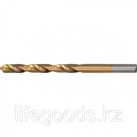 Сверло по металлу, 7 мм, HSS, нитридтитановое покрытие, цилиндрический хвостовик Matrix, фото 2