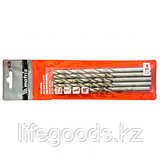 Сверло по металлу, 8 х 165 мм, полированное, удл, HSS, 5 шт, цилиндрический хвостовик Matrix, фото 3