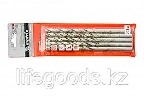 Сверло по металлу, 9 х 175 мм, полированное, удл, HSS, 5 шт, цилиндрический хвостовик Matrix, фото 3