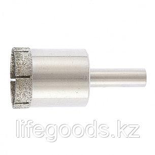 Сверло по стеклу и керамической плитке, 20 х 55 мм, цилиндрический хвостовик Сибртех 726207, фото 2