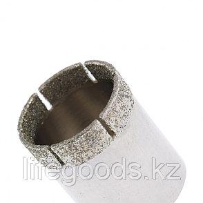 Сверло по стеклу и керамической плитке, 22 х 55 мм, цилиндрический хвостовик Сибртех 726227, фото 2