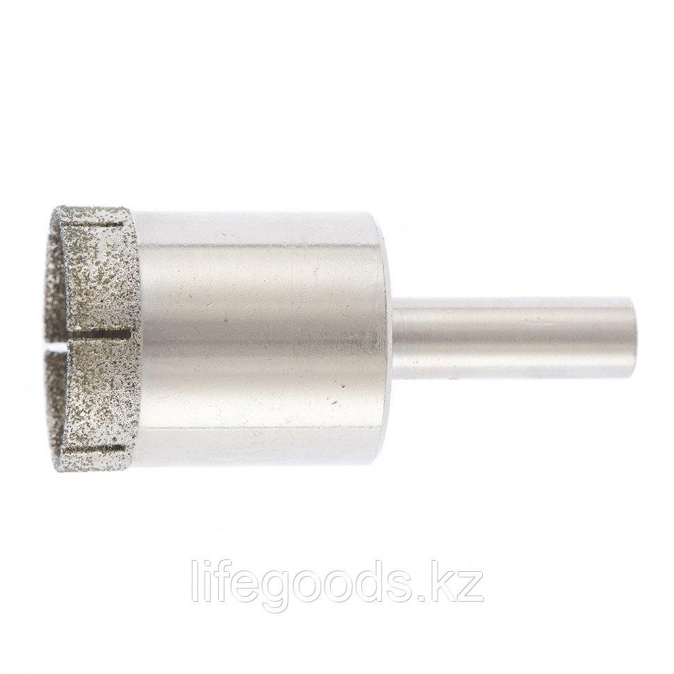 Сверло по стеклу и керамической плитке, 30 х 55 мм, цилиндрический хвостовик Сибртех 726307