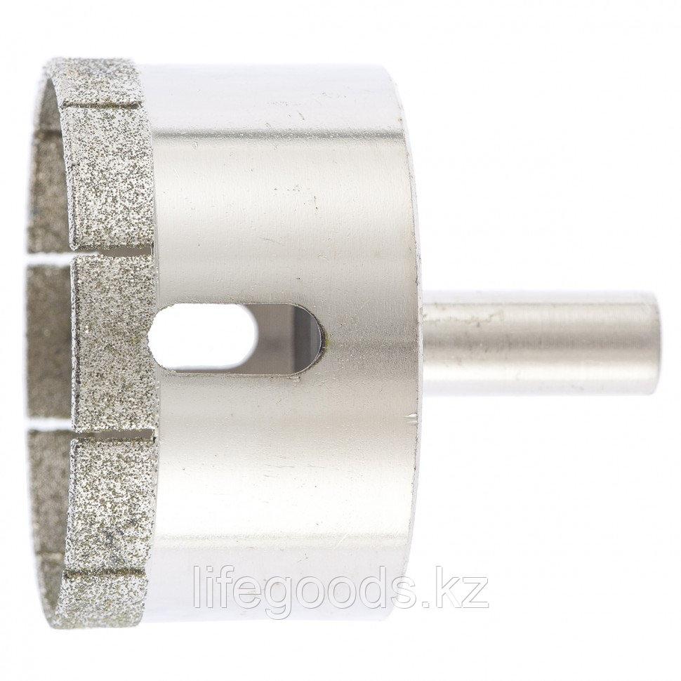 Сверло по стеклу и керамической плитке, 60 х 55 мм, цилиндрический хвостовик Сибртех 726607
