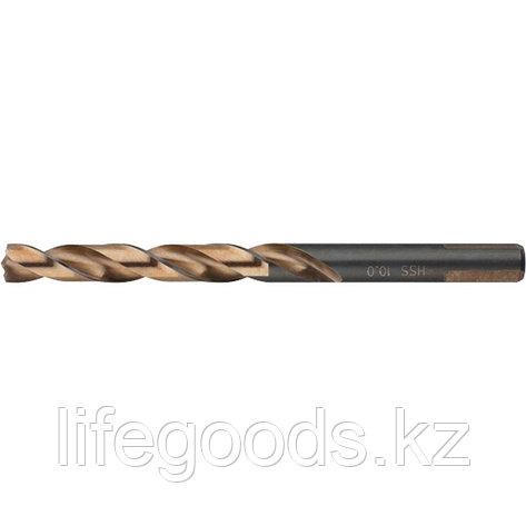 Сверло спиральное по металлу, 10,5 x 133 мм, Р9М3, многогранная заточка Барс 71889, фото 2