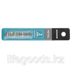 Сверло спиральное по металлу, 2 мм, HSS-Co, 2 шт Gross 72303, фото 2