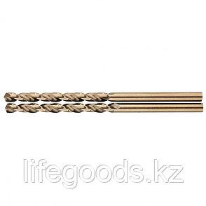 Сверло спиральное по металлу, 3,5 мм, HSS-Co, 2 шт Gross 72309, фото 2