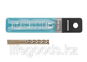 Сверло спиральное по металлу, 3,5 мм, HSS-Co, 2 шт Gross 72309, фото 3