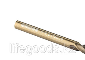 Сверло спиральное по металлу, 4,5 мм, HSS-Co Gross 72314, фото 2
