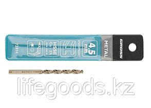 Сверло спиральное по металлу, 4,5 мм, HSS-Co Gross 72314, фото 3